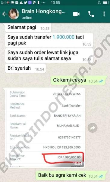 Bukti beli di kami B king indonesai