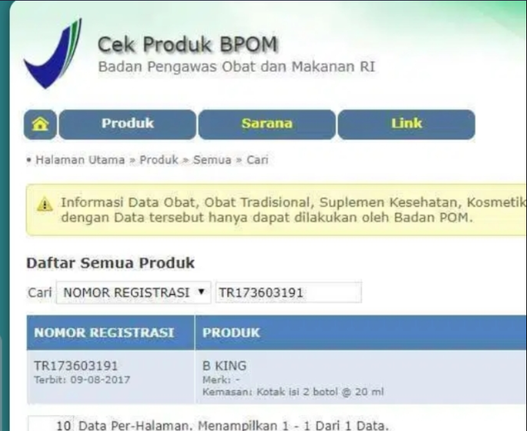 Brainking Plus BPOM